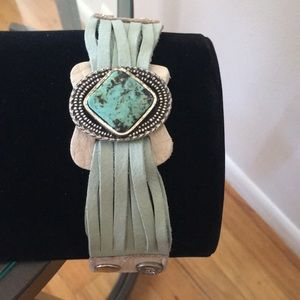 Jewelry - Leather and Turquoise Bracelet